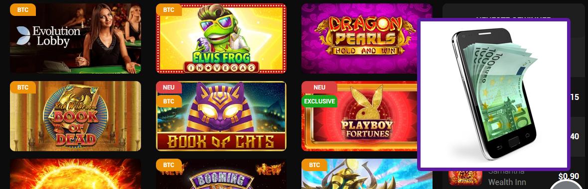 Handyrechnung und Glücksspiel